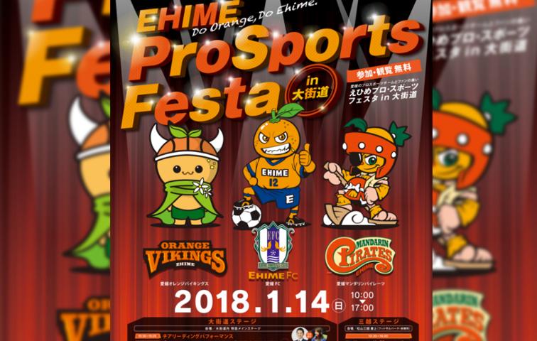 えひめ プロ・スポーツフェスタ in 大街道 【1月14日日曜日】